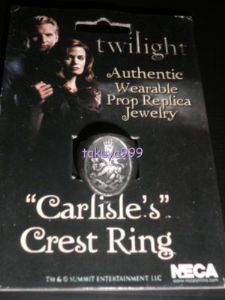 Twilight CARLISLE'S CREST RING Cullen Props NECA SIZE 10